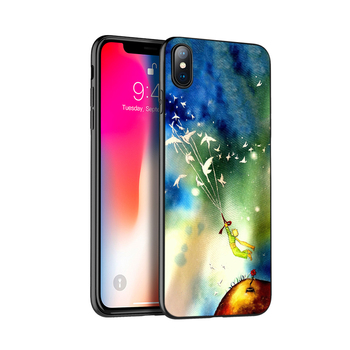 Juoda tpu case for iphone 5 5s SE 2020 6 6s 7 8 plus x 10 case for iphone XR XS 11 pro MAX atveju Mažasis Princas ir Lapė