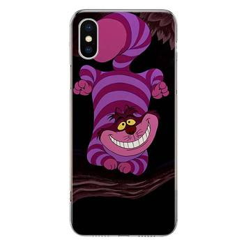 Cheshire cat Telefono dėklas Skirtas Apple Iphone 11 12 Mini Pro X XR XS Max 7 8 6 6S Plius 5 SE 7G 6G + Art Padengti Coque